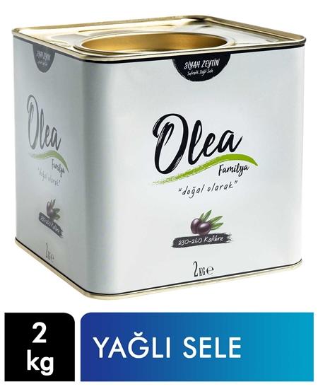 Picture of Olea Familya Siyah Zeytin Teneke 2 kg Yağlı Sele 230-260 Kalibre