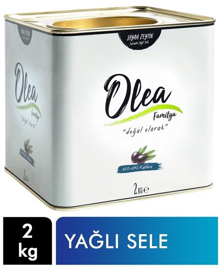 Picture of Olea Familya Siyah Zeytin Teneke 2 kg Yağlı Sele 260-290 Kalibre