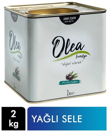 Picture of Olea Familya Siyah Zeytin Teneke 2 kg Yağlı Sele 290-320 Kalibre