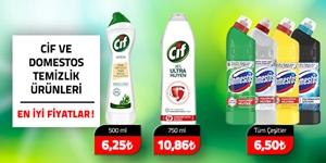 Domestos ve Cif Temizlik Ürünleri kampanya resmi