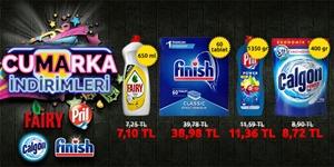 CUMARKA! Fairy, Pril, Calgon ve Finish Ürünlerinde İndirim! kampanya resmi
