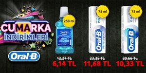 Oral-B Diş Macunlarında %50 İndirim! kampanya resmi